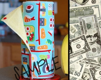 Tree Saver Towels - Money (0492827) - Reusable, Eco-Friendly, Snapping Cloth Unpaper Towel Set - Cotton and Terry Cloth
