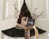 PreHalloweenSale Primitive Halloween Witch Hat