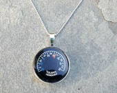 Thermometer Necklace Celsius and Fahrenheit Temperatures Sterling Silver Pendant Free US Shipping Jewelry that works Hot or Cold?