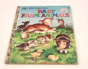 Baby Farm Animals Little Golden Vintage - Picture Book