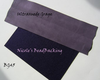 Ultrasuede with Free Nicoles BeadBacking Grape and Purple GT45