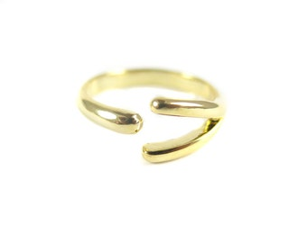 Gold Plated Geometric Ring (2x) (K759)