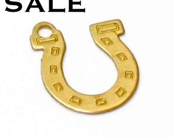 Brass Omega Charms (12X) (V381) SALE - 25% off