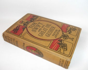 Hollow Book Safe Vintage Tom Swift and His Great Oil Gusher, Secret Stash Compartment Jewelry Box