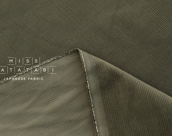 Japanese Fabric Corduroy - olive green - 50cm
