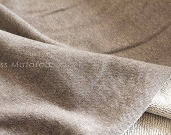 Japanese Fabric French Terry Knit - brown - 50cm