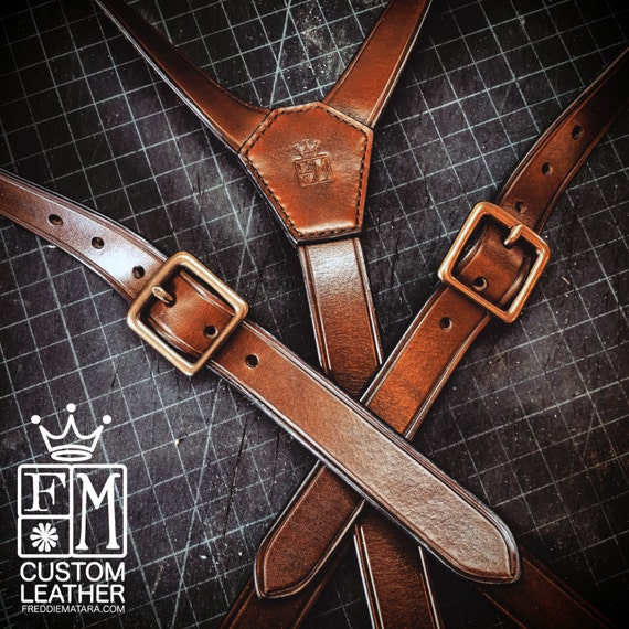 Leather suspenders hand built for YOU in New York City by Freddie Matara