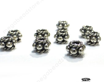 20 pcs 4.75 Bali Sterling Silver Beads Handmade Spacers Oxidized S02