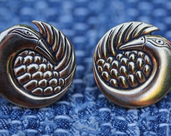 VINTAGE Laurel Burch CLIP ON earrings