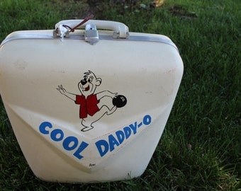 VINTAGE hard sided COOL DADDY O bowling ball bag