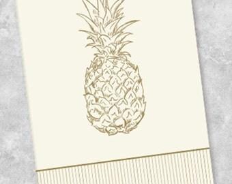 Golden Pineapple Guest Towel Napkins (40 Count)