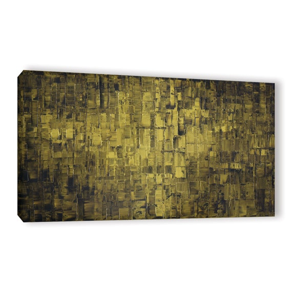 Art Wall Jr Green Jacket : Canvas print modern abstract olive green fine by
