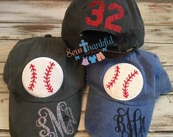 baseball mom hat, baseball hat, baseball cap, monogrammed hat,