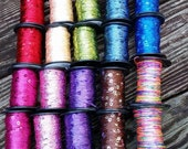 Sequins Yarns for on Spools for Weaving Knitting Felting Art Yarn Spinning Scrapbooking and Crafting