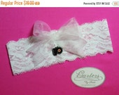 SALE 10% OFF White Lace Handmade Keepsake Garter with Philadelphia Flyers Charm