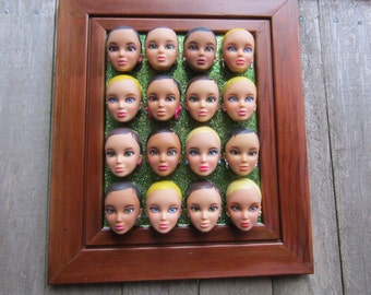 Liv Laugh Love -  upcycled framed assemblage