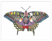 Star Brite Butterfly watercolor art print, hand towel, or art note cards by Marley Ungaro