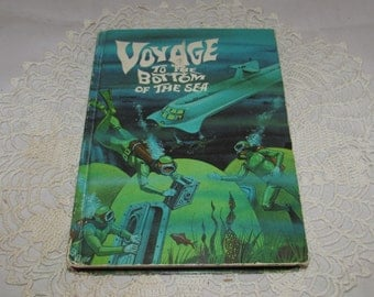 Vintage Hardcover Book, Voyage to the Bottom of the Sea by Raymond Jones, 1965, Whitman Pub., TV Adventure Book, collectible