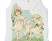 Easter Bunny Infant Tank shirt, Girls Baby Shirt, Infant Tee,  3 months, 6 months, 12 months, 18 months