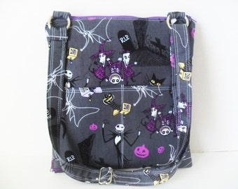 Nightmare Before Christmas Crossbody Bag // Jack Skellington Sling Bag // Crossbody Purse // Shoulder Bag // Hipster