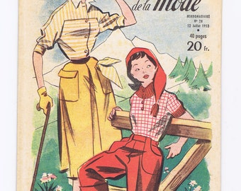 Vintage Magazine.Fashion magazine.Fabulous images.Vintage.Paris.French.Style.Mode.Vogue.Chic.Scrapbooking.collage.patterns.dresses.summer