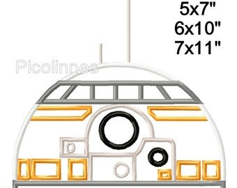 Robot 8 Machine Embroidery Applique Pattern Design 5x7 6x10 7x11 INSTANT DOWNLOAD
