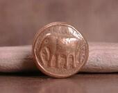 Rustic Handmade Goldie Bronze Metal Clay Small Shank Button Elephant  Divine Spark Designs SRA