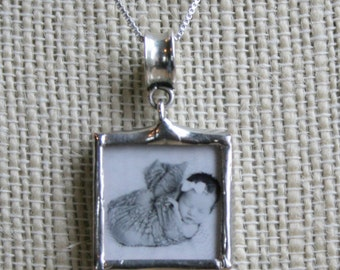 Custom Photo Pendant, Photo Necklace, Grandma Necklace, Mommy Necklace, Custom Picture Necklace, New Mom Gift