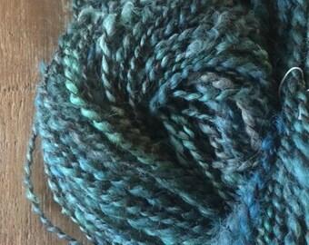 Get Back 110 yards two ply bulky weight handspun local wools suri llama shetland wool skein