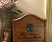 Pet Memorial Urn Box Pyrography Portrait and Script Made to Order by Shannon Ivins