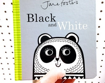 New Jane Foster's Black and White baby board book  - Scandi retro illustrations Jane Foster can sign on request!