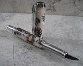 Fountain Pen (Pine Cone and Chrome)