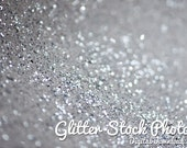 Silver Glitter Stock Pack - Christmas stock photography, silver glitter photos, personal use license