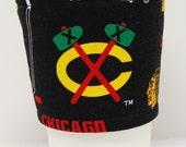 Coffee Cozy/Cup Sleeve Eco Friendly Slip-on,Teacher Appreciation, Co-Worker Gift: NHL Chicago Blackhawk - II