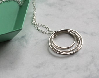 Quatre Necklace - Sterling Silver | minimal necklace | minimalist necklace | simple jewellery | 4th anniversary gift | 40th birthday gift