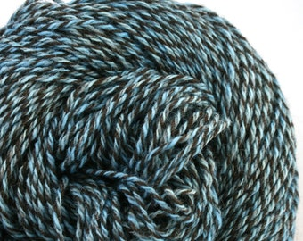 Rockwell Hand Dyed DK weight Wool 280 yds 4oz Pale Blue Dot