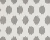 Jo jo storm fabric ikat fabric jo jo fabric remnant gray white remnant