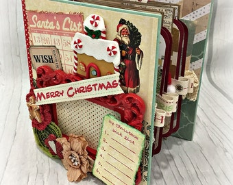 MERRY CHRISTMAS All Occasion Scrapbook Scrapbooking Chipboard Album