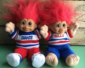 1992 Russ Berrie NFL Troll Dolls-The Bills and The Giants