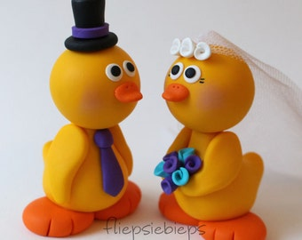 Custom Duck Wedding Cake Topper (Yellow)