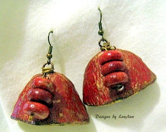 Tripple Berry Gourd Earrings