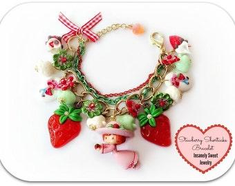 Strawberry Shortcake Charm Bracelet- Retro Strawberry