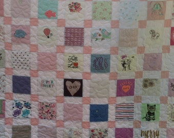 Reserved for Whitney BABY CLOTHES Quilt  - Using Your Baby Clothes
