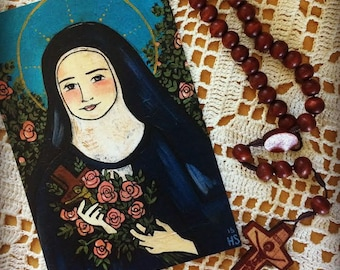 St. Therese of Lisieux mini print 4x6