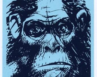 Grumpy Ape art print