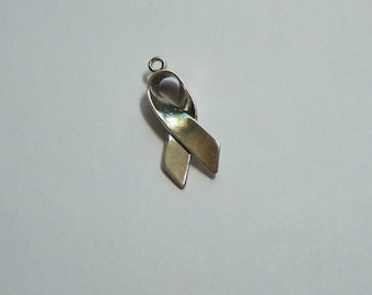 Awareness Charm, Sterling Silver, Marked .925
