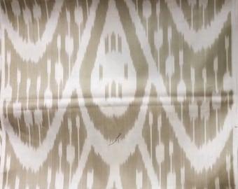 Silk Ikat Handwoven Warm Taupe Cream