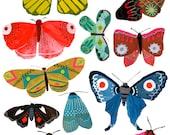 Moths, Butterflies, Girl, print of my original painting