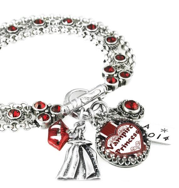 Vampire Bracelet, Gothic Jewelry, Vampire Jewelry, Gothic Vampire, Gothic Bracelet, Vampire Fangs, Stainless Steel
