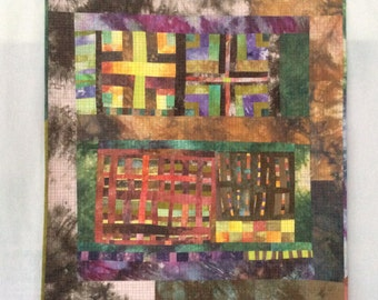 Winter Garden - Improvisational Quilt - original Art Wall Hanging quit
